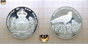 Rotmilan, 5000 Lire, 1996, San Marino, Mondo  Vorschaubild