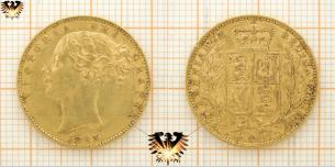 1 Sovereign, 1863, Queen Victoria, Shield Typ  Vorschaubild