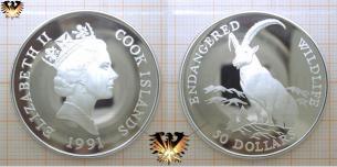 Steinbock,  50 Dollars, 1991, Cook Island, Endangered  Vorschaubild