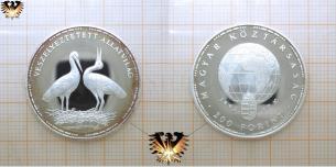 Weißer Storch, 200 Forint, 1992, Ungarn, gefährdete  Vorschaubild