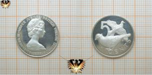 5 Cents, 1977, British Virgin Islands, Queen  Vorschaubild