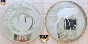 Sibirischer Kranich: 500 Afghanis 1978,  Vorschaubild