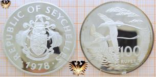 Weißschwanz-Tropikvogel: 100 Rupees 1978,  Vorschaubild