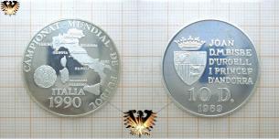10 Diners, Andorra 1989, WM 1990, Italien,  Vorschaubild