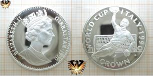 WORLD CUP, Italy 1990, 1 Crown, Queen,  Vorschaubild