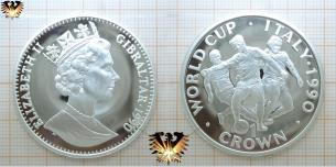 WORLD CUP ITALY 1990, 1 CROWN, Elziabeth  Vorschaubild