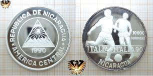 Italia 90, WM, 10000 Córdobas, Nicaragua, 1990,  Vorschaubild