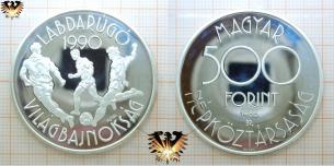 Silber, Ungarn 1988, 500 Forint, WM 1990,  Vorschaubild