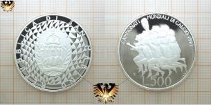 500 L, San Marino, Silber Münze, Fußball-WM,  Vorschaubild
