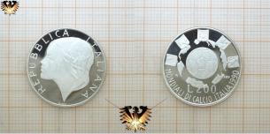 200 Lire, Silbermünze, Repubblica Italiana, WM 1990  Vorschaubild