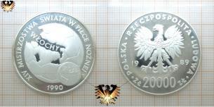 20000 Złoty, Themenmünze Fußball, Polen 1989, XIV  Vorschaubild