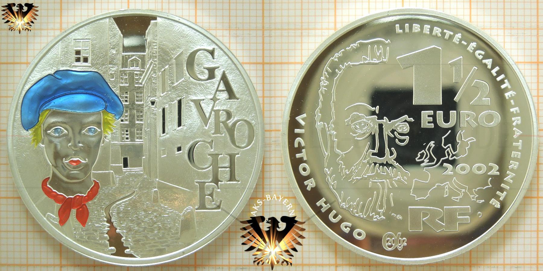 15 Euro Frankreich 2002 Farbmünze Silber Ankauf Handel