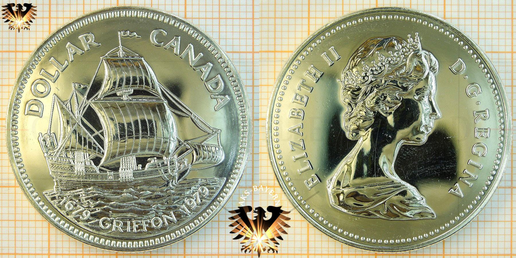 1 Dollar Canada Dollar 1979 Elizabeth Ii Griffon