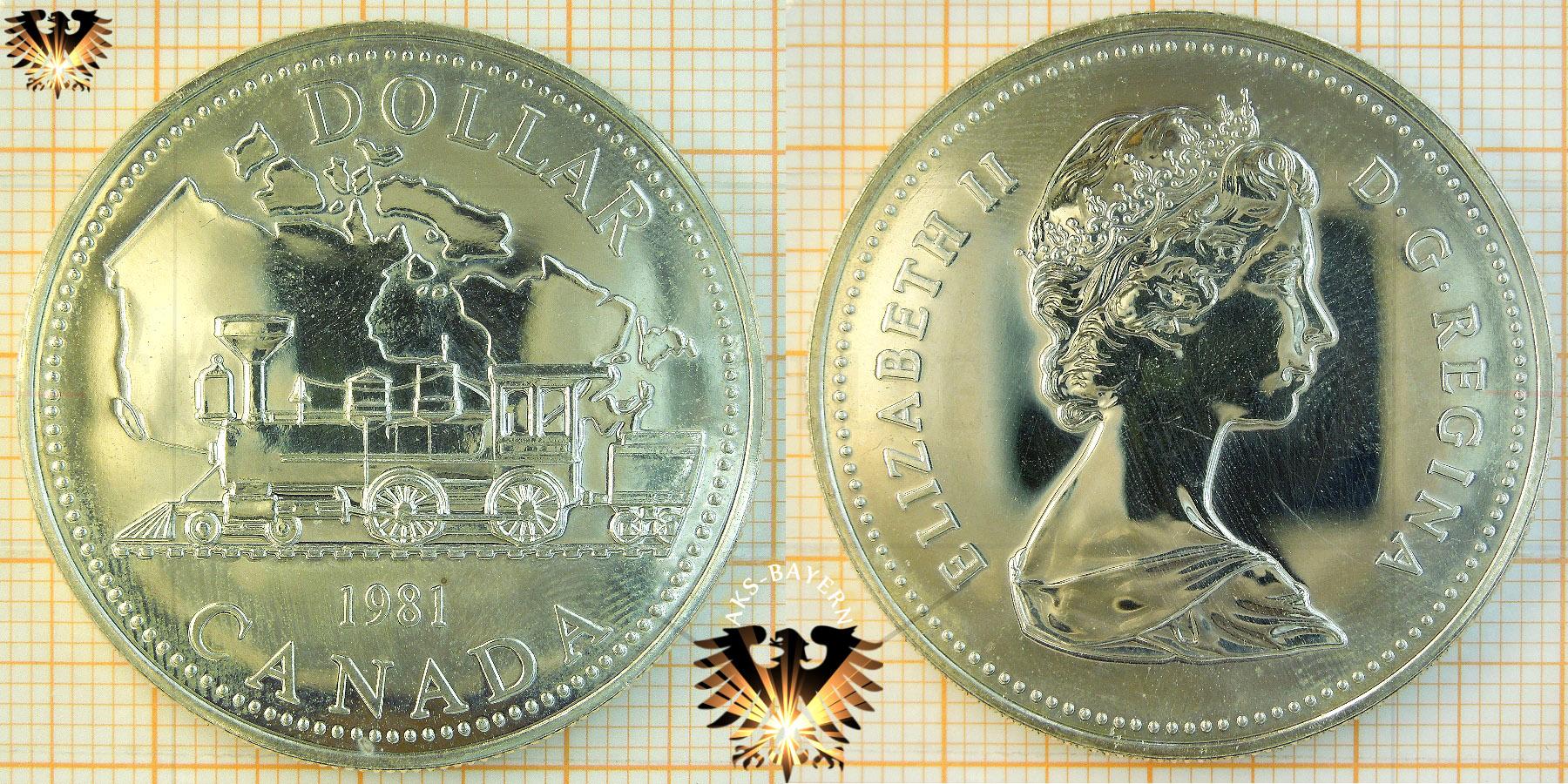1 Dollar Canada Dollar 1981 Elizabeth Ii Trans Canada Railway