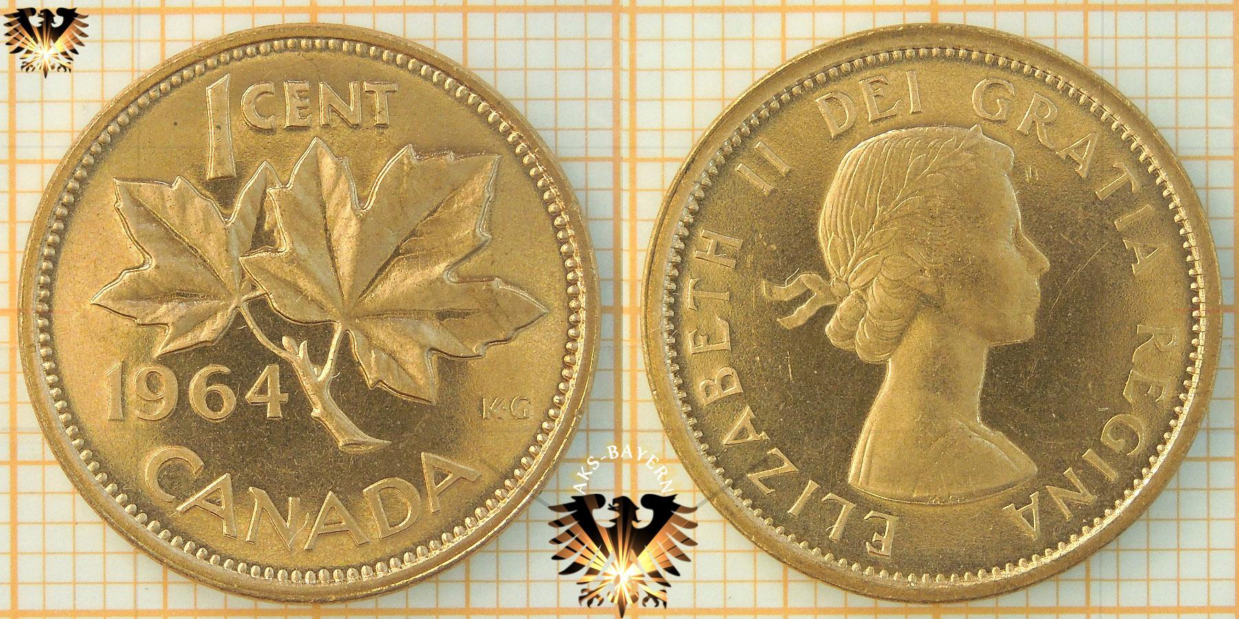 1 Cent Canada 1964 Elizabeth Ii