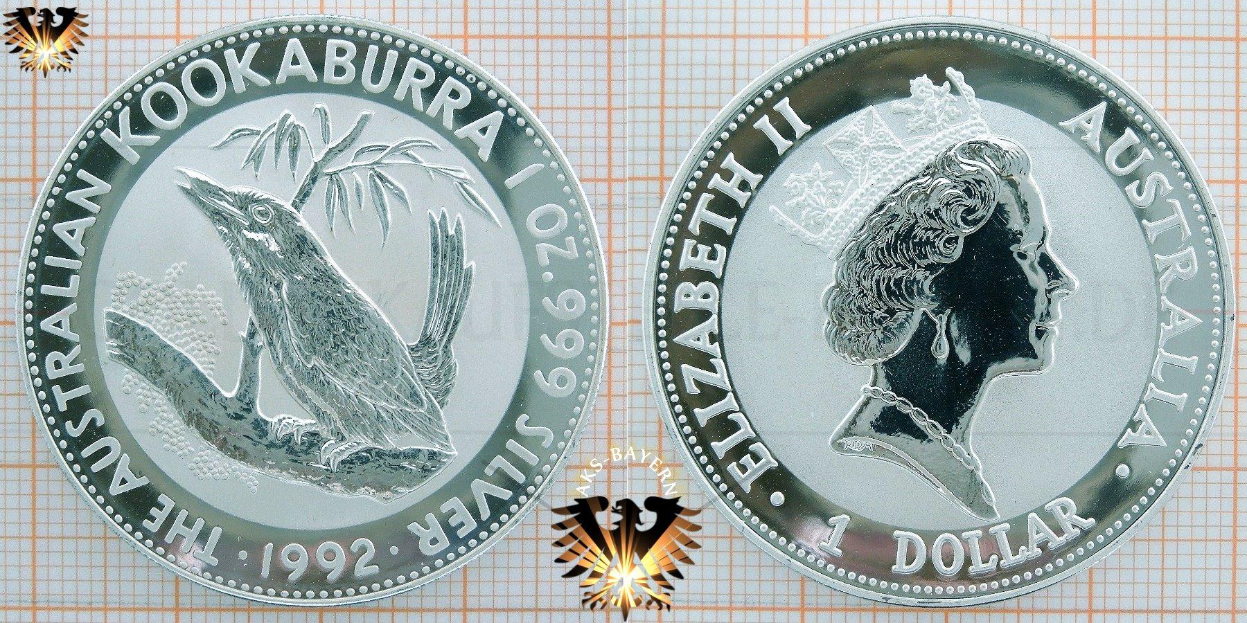 1 Dollar 1992 Anlagesilber Aus Australien Wert Zu 1 Unze Feinsilber