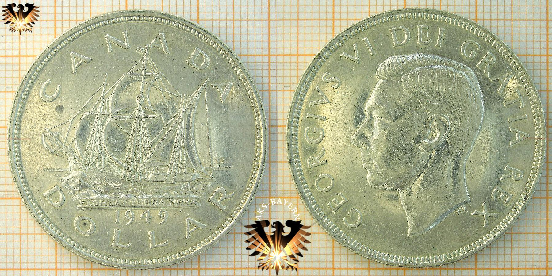 1 Dollar Canada Dollar 1949 Georgivs Vi Dgrex Et Indimp