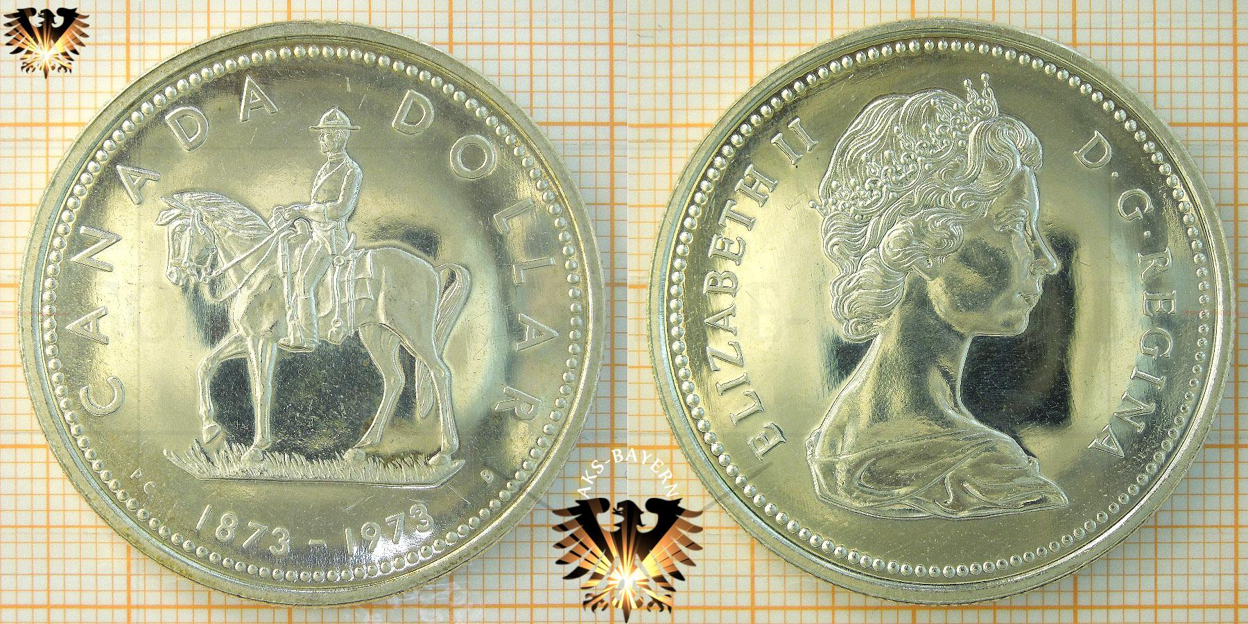 1 Dollar Canada Dollar 1973 Elizabeth Ii Mountie Centennial