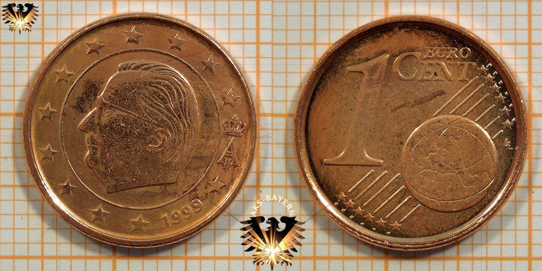 1 Euro Cent Belgien 1999 Nominal