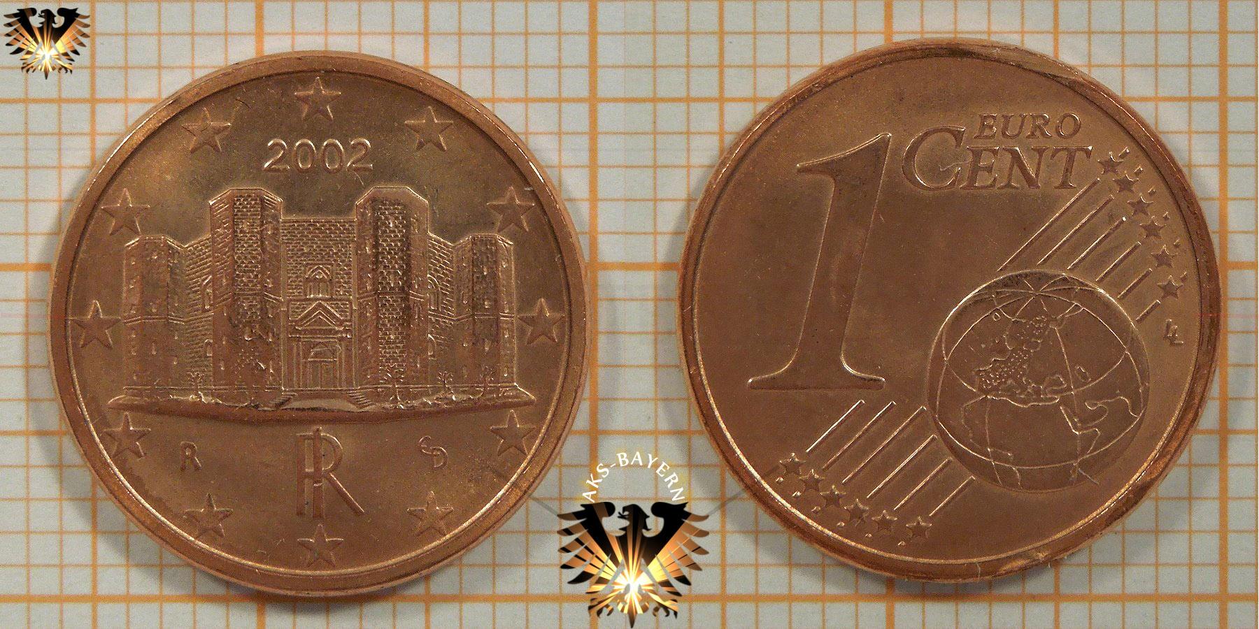 1 Euro Cent Italien 2002 Nominal