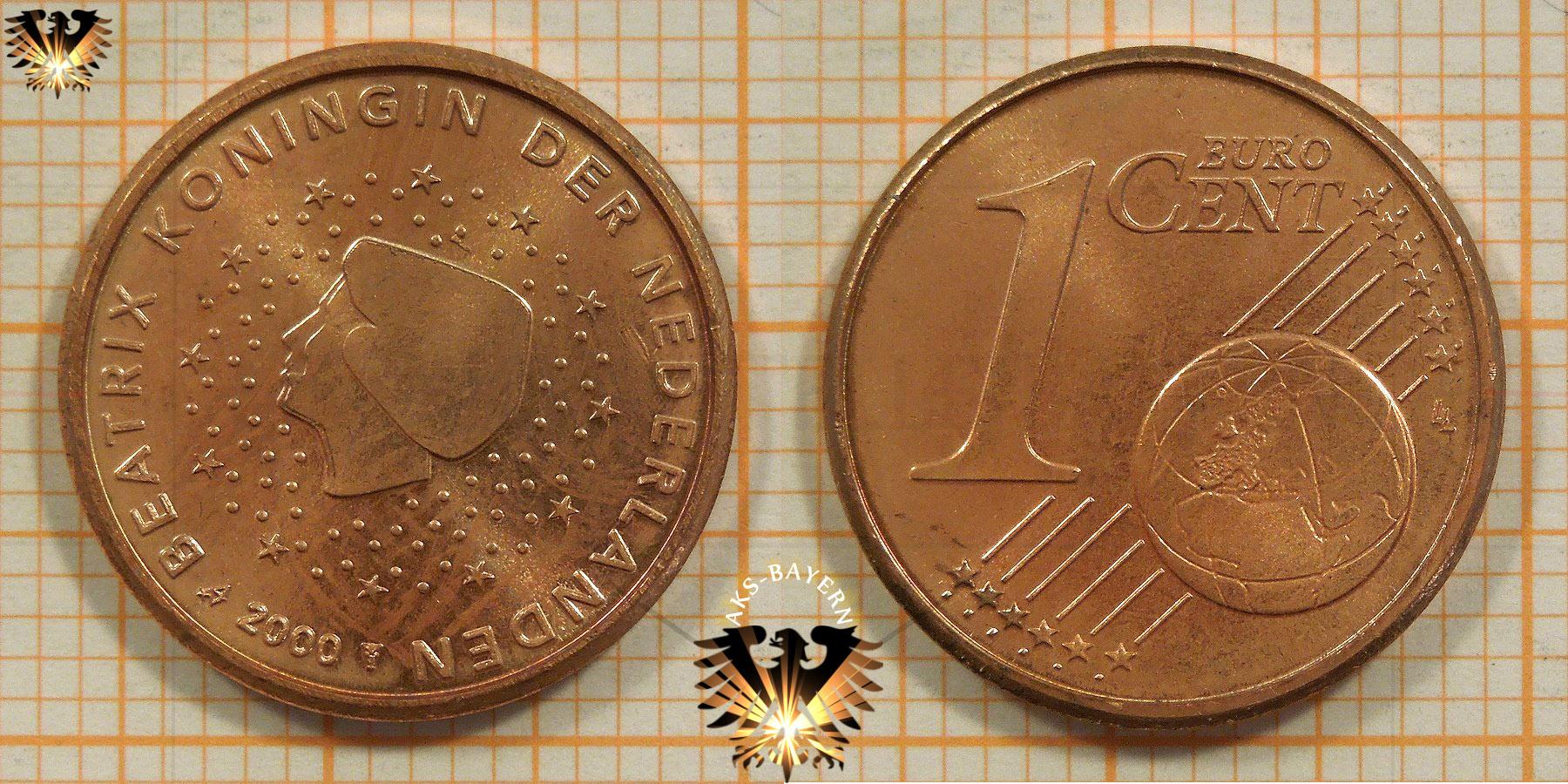 1 Euro Cent Niederlande 2000 Nominal