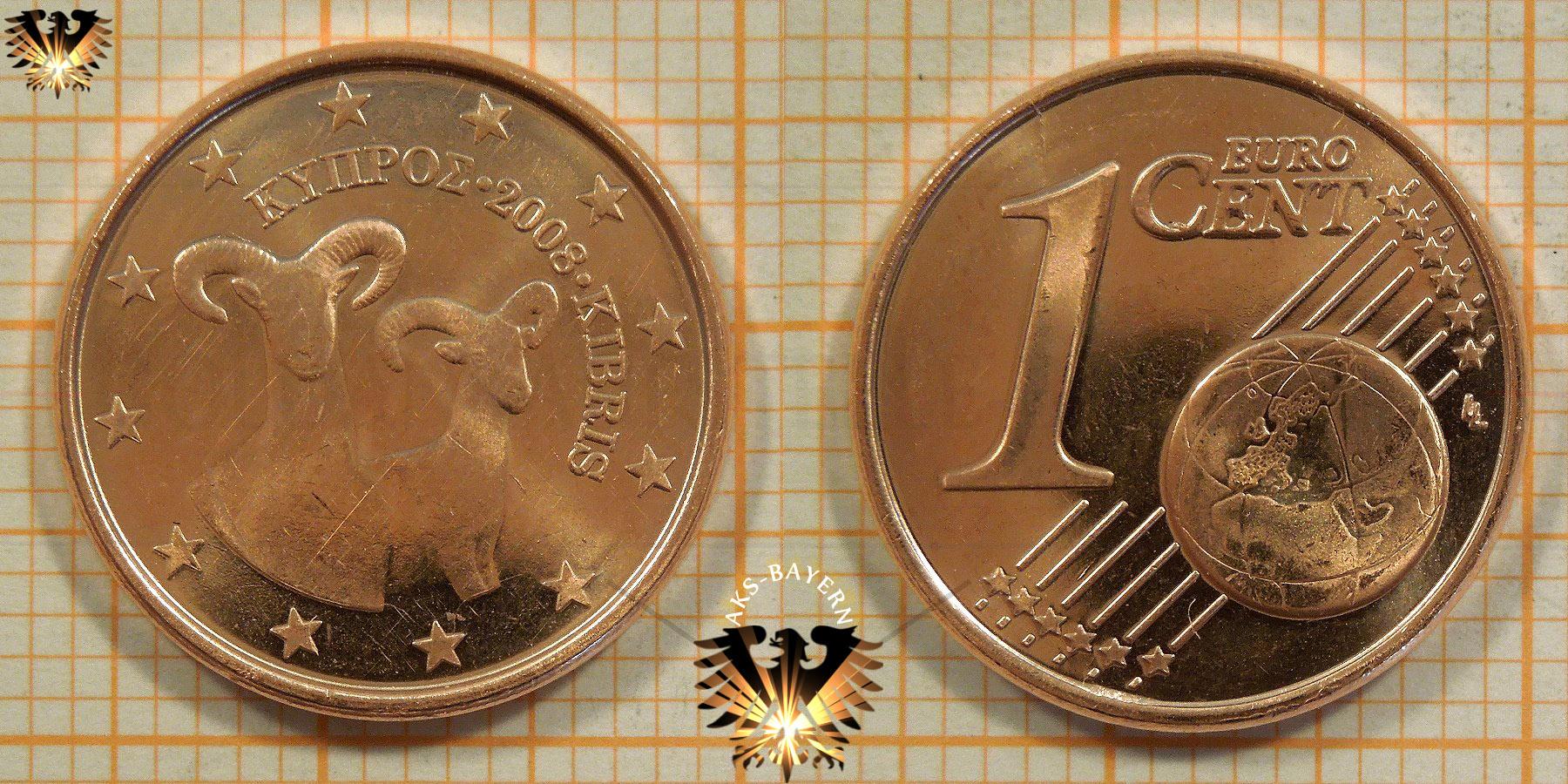 1 Euro Cent Zypern 2008 Nominal