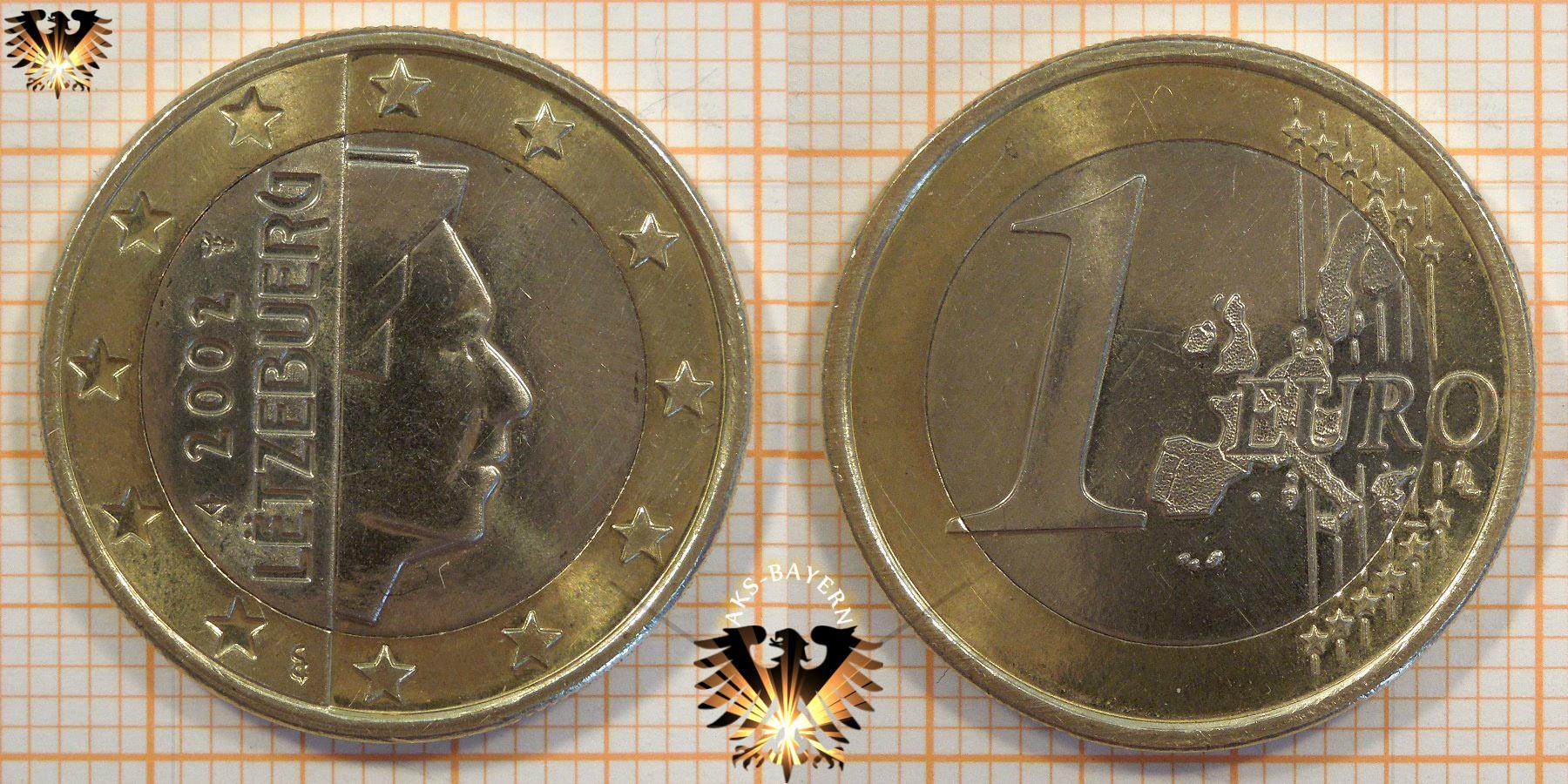 1 Euro Luxemburg 2002 Nominal Großherzog Henri