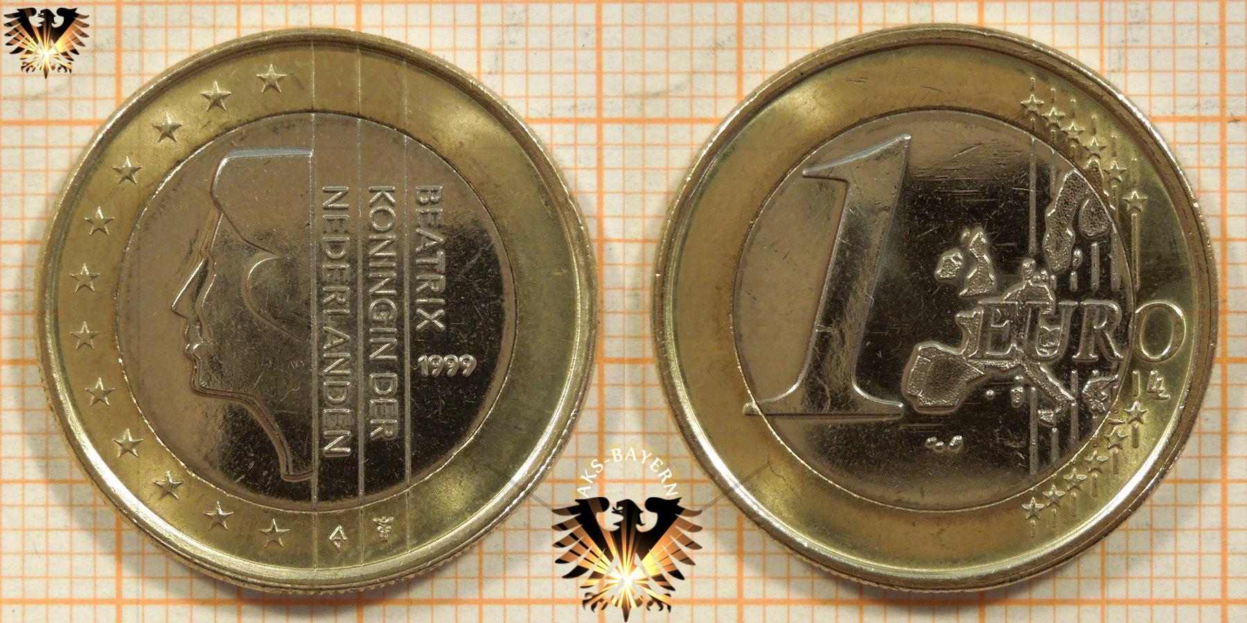 1 euro niederlande 1999 nominal k nigin beatrix. Black Bedroom Furniture Sets. Home Design Ideas