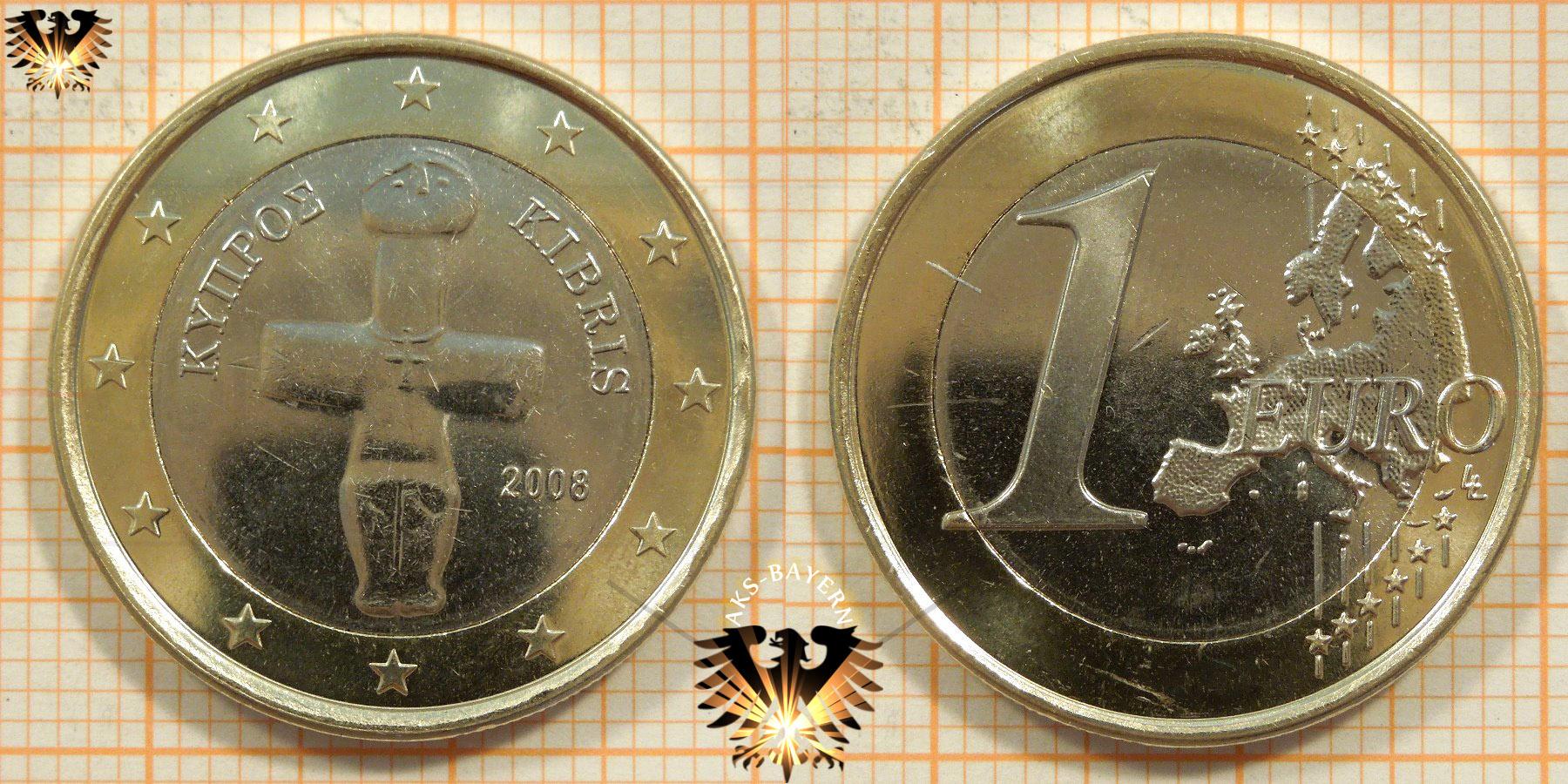 1 Euro Zypern 2008 Nominal Idol Von Pomos
