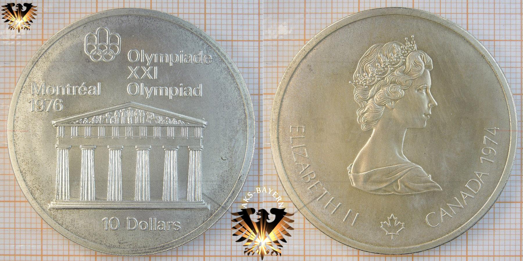 10 Dollars Canada 1974 Elizabeth Ii Xxi Olympiad Montréal 1976