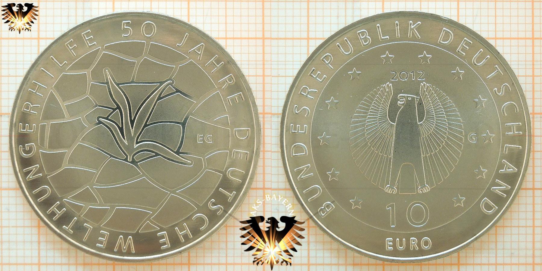 10 Brd 2012 G 50 Jahre Welthungerhilfe Kupfer Nickel Und