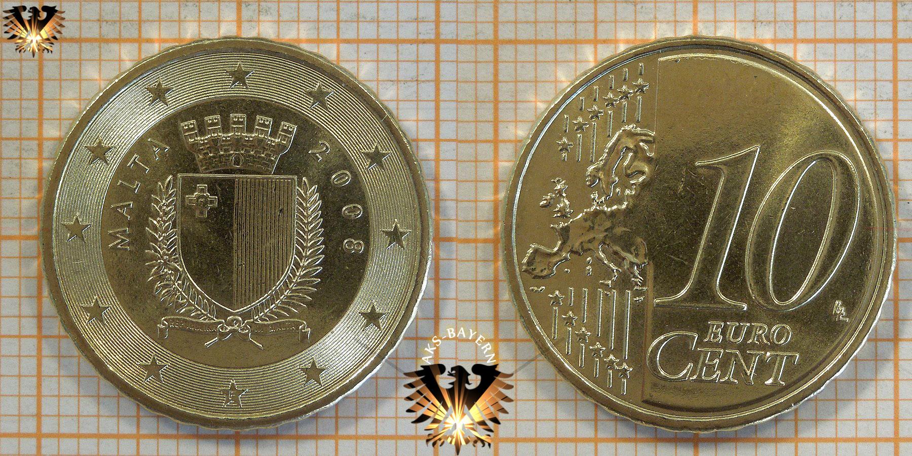 10 Euro Cent Malta 2008 Nominal