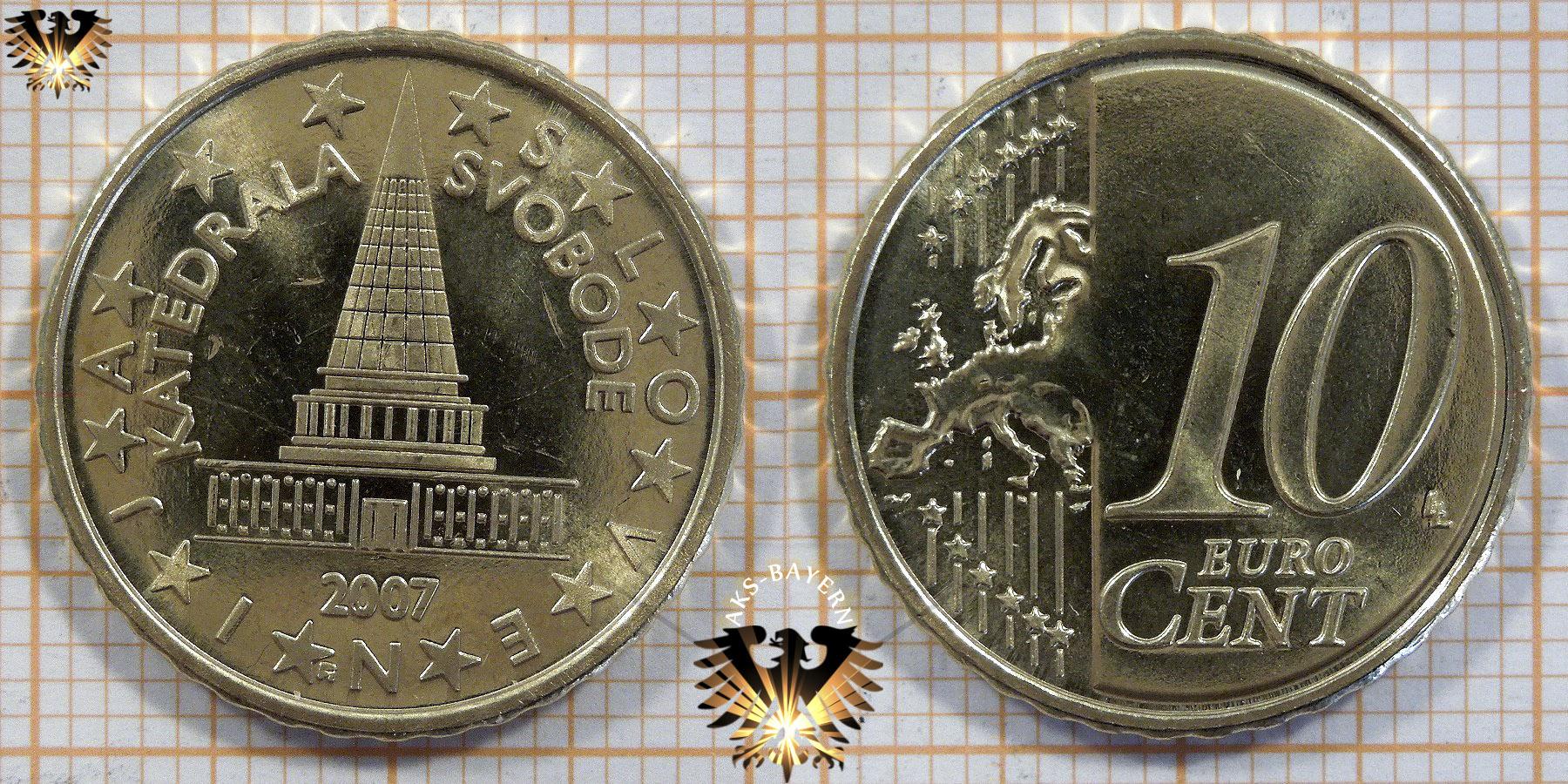 10 Euro Cent Slowenien 2007 Nominal