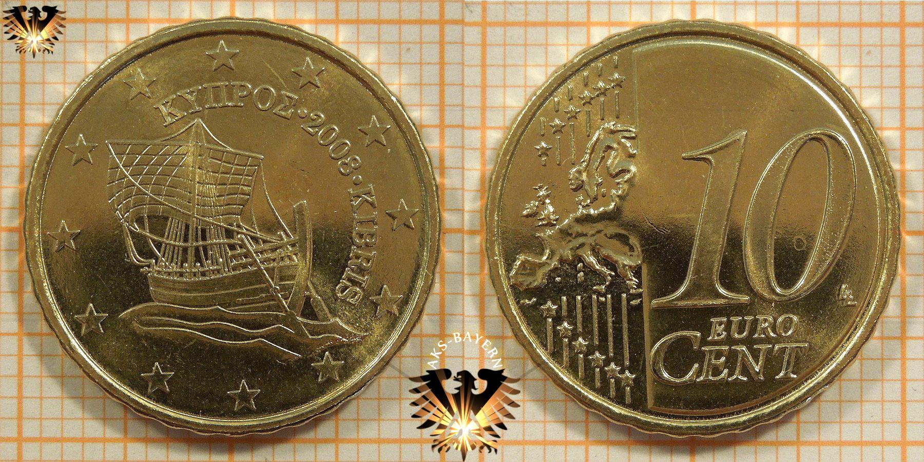 10 Euro Cent Zypern 2008 Nominal