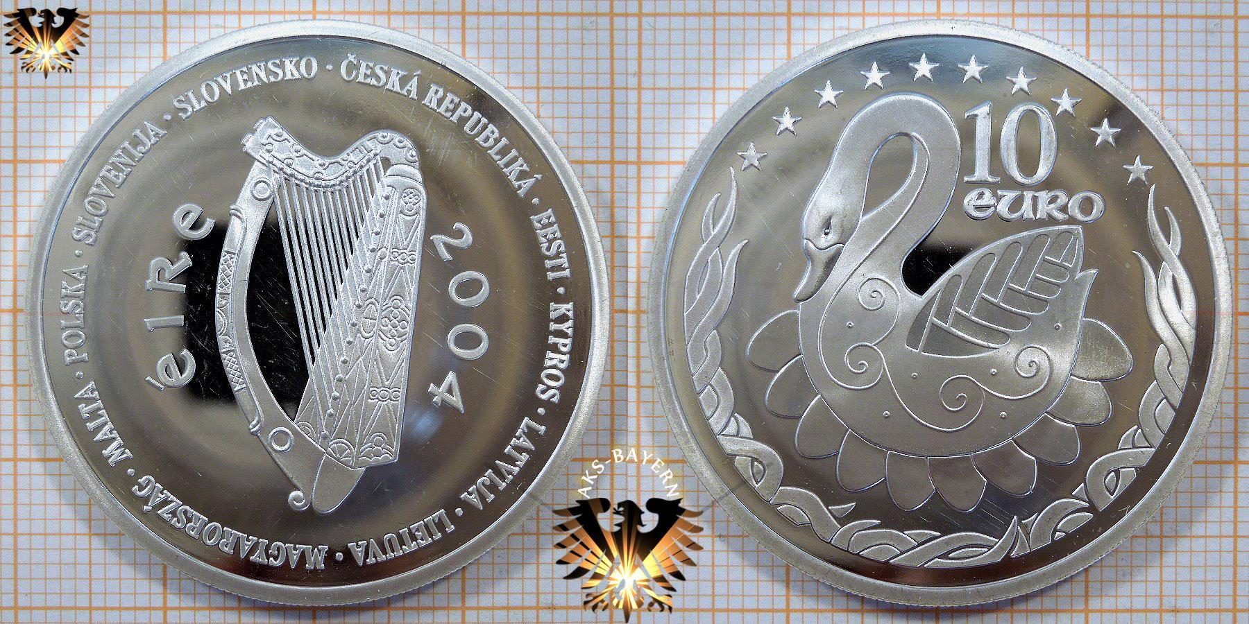 10 Euro Irland 2004 Irische Präsidentschaft Im Europarat Irish