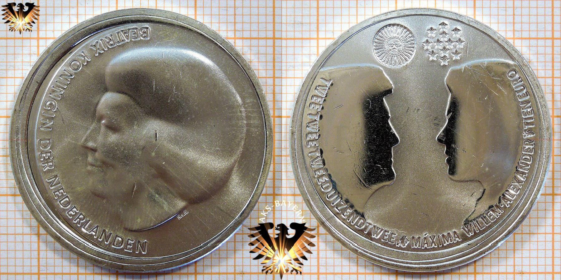 10 Euro Niederlande 2002 Hochzeit Von Kronprinz Willem Alexander