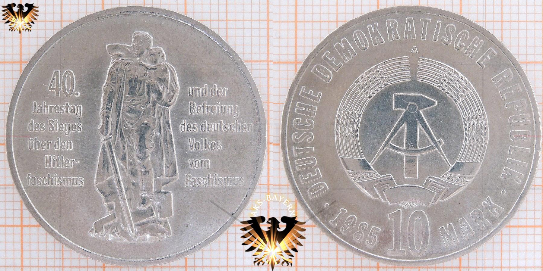 10 Mark Ddr 1985 40 Jahrestag Des Sieges über Den Hitler Faschismus