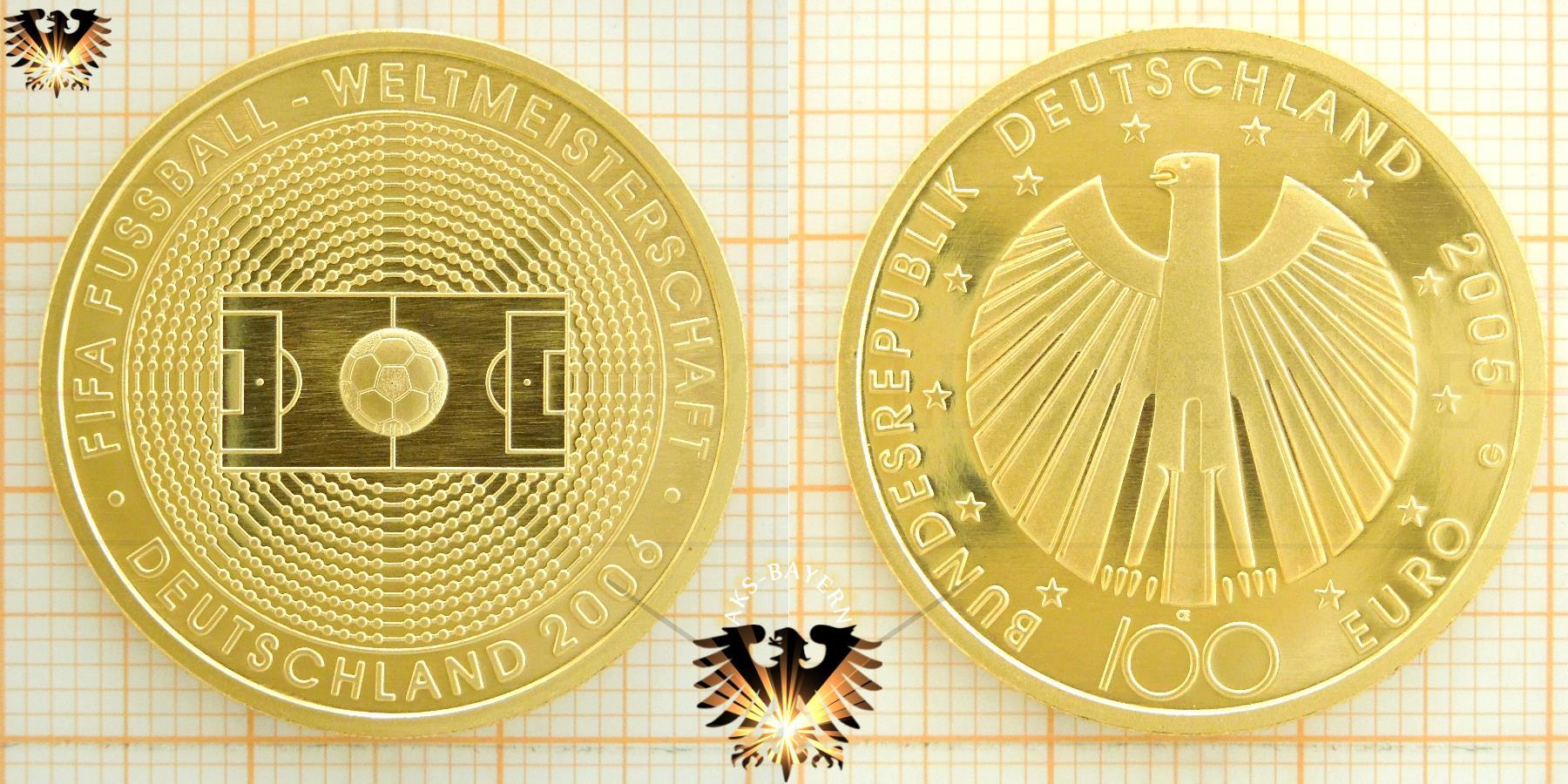 100 Euro Brd 2005 A D F G J Fifa Fußball Weltmeisterschaft 2006
