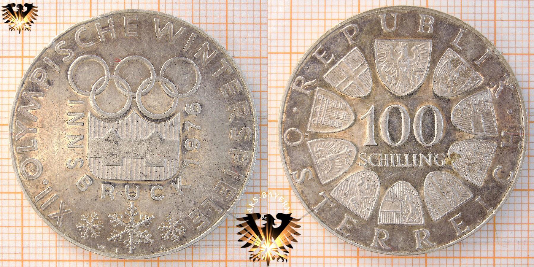 100 Schilling 1974 12 Olympische Winterspiele 1976