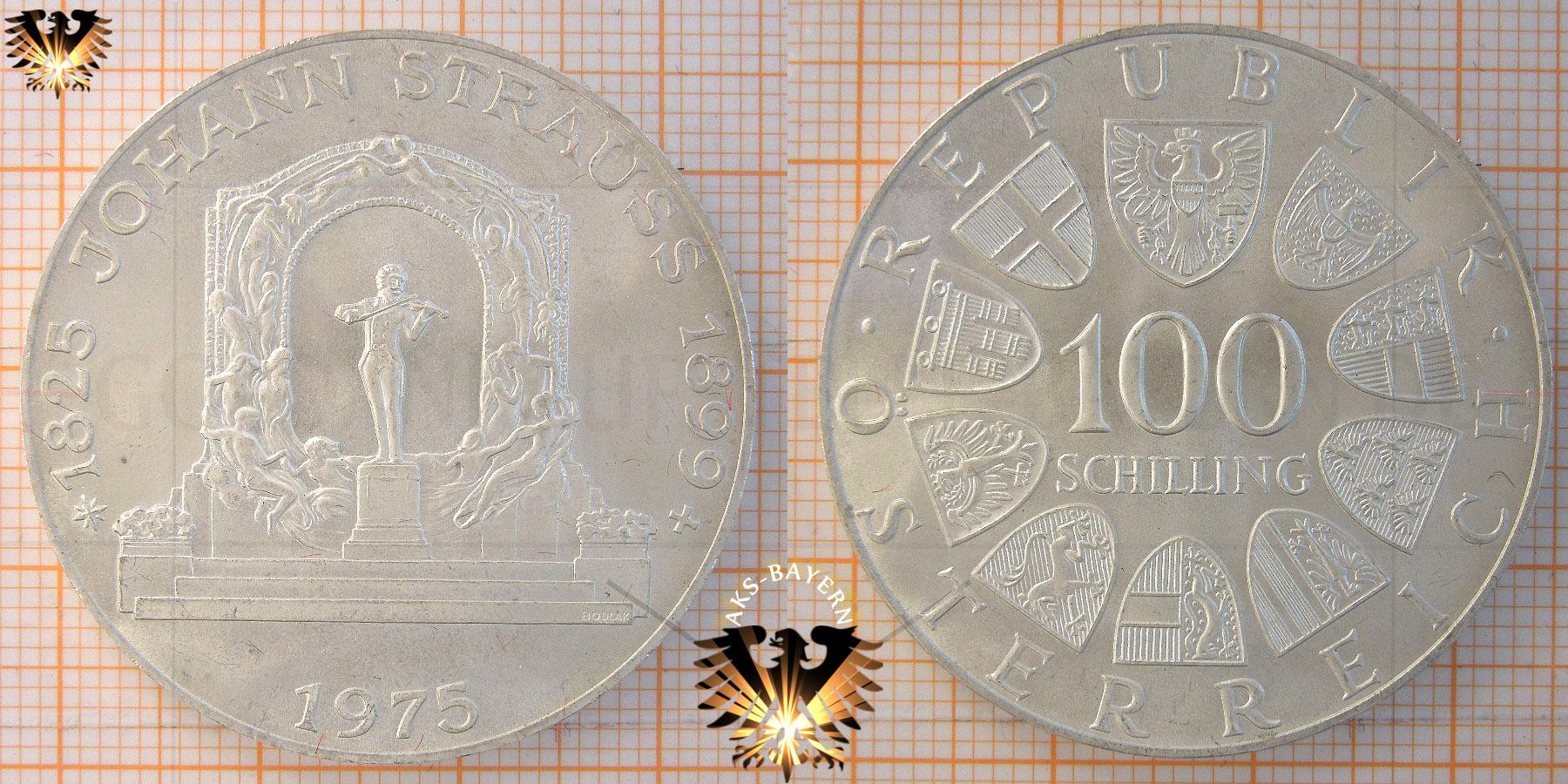 100 Schilling 1975 Johann Strauss