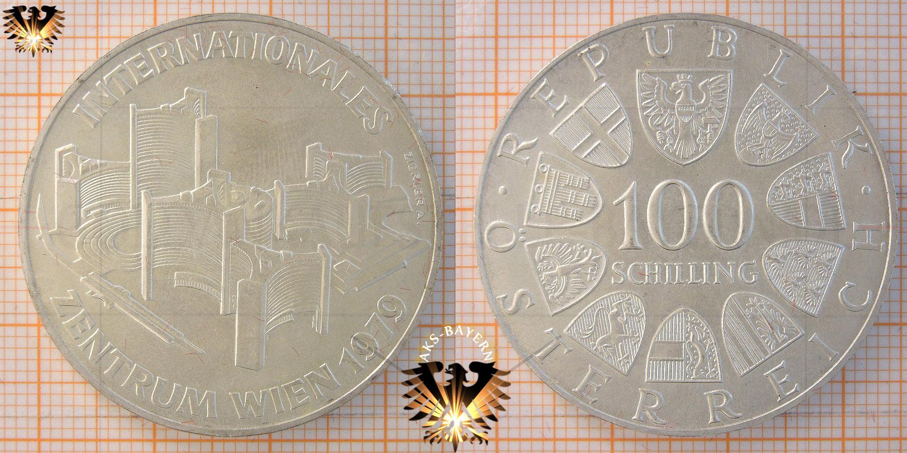 100 Schilling 1979 Internationales Zentrum Wien