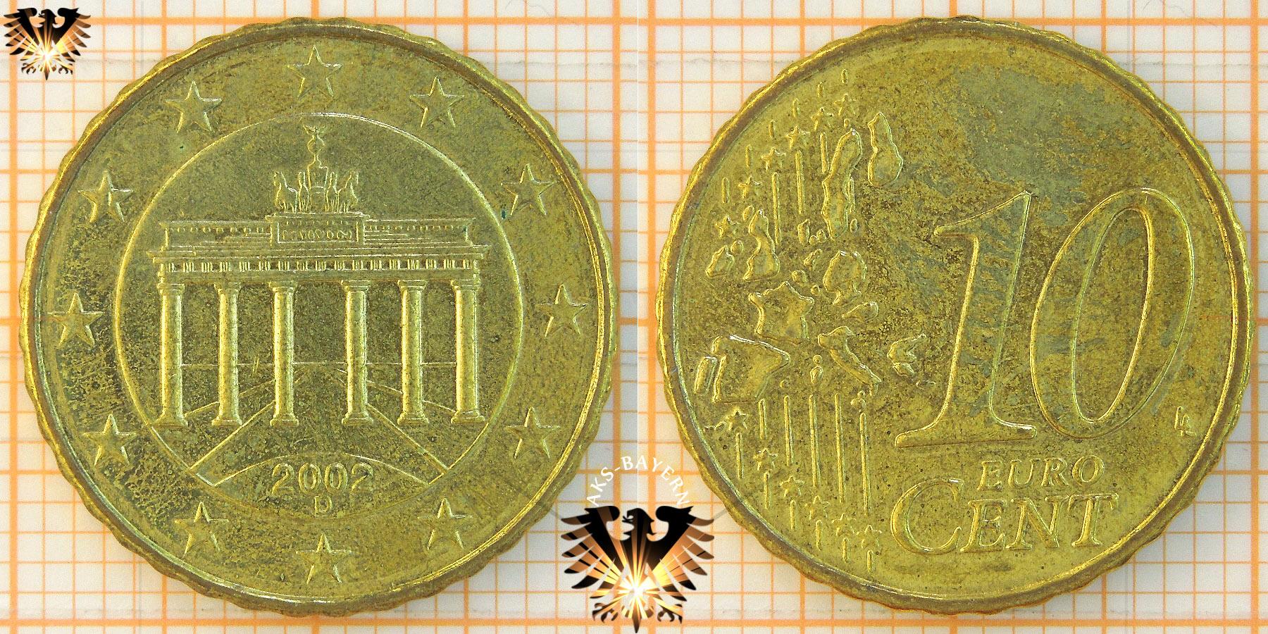 10 Cent Brd 2002 D Nominal Eurocent