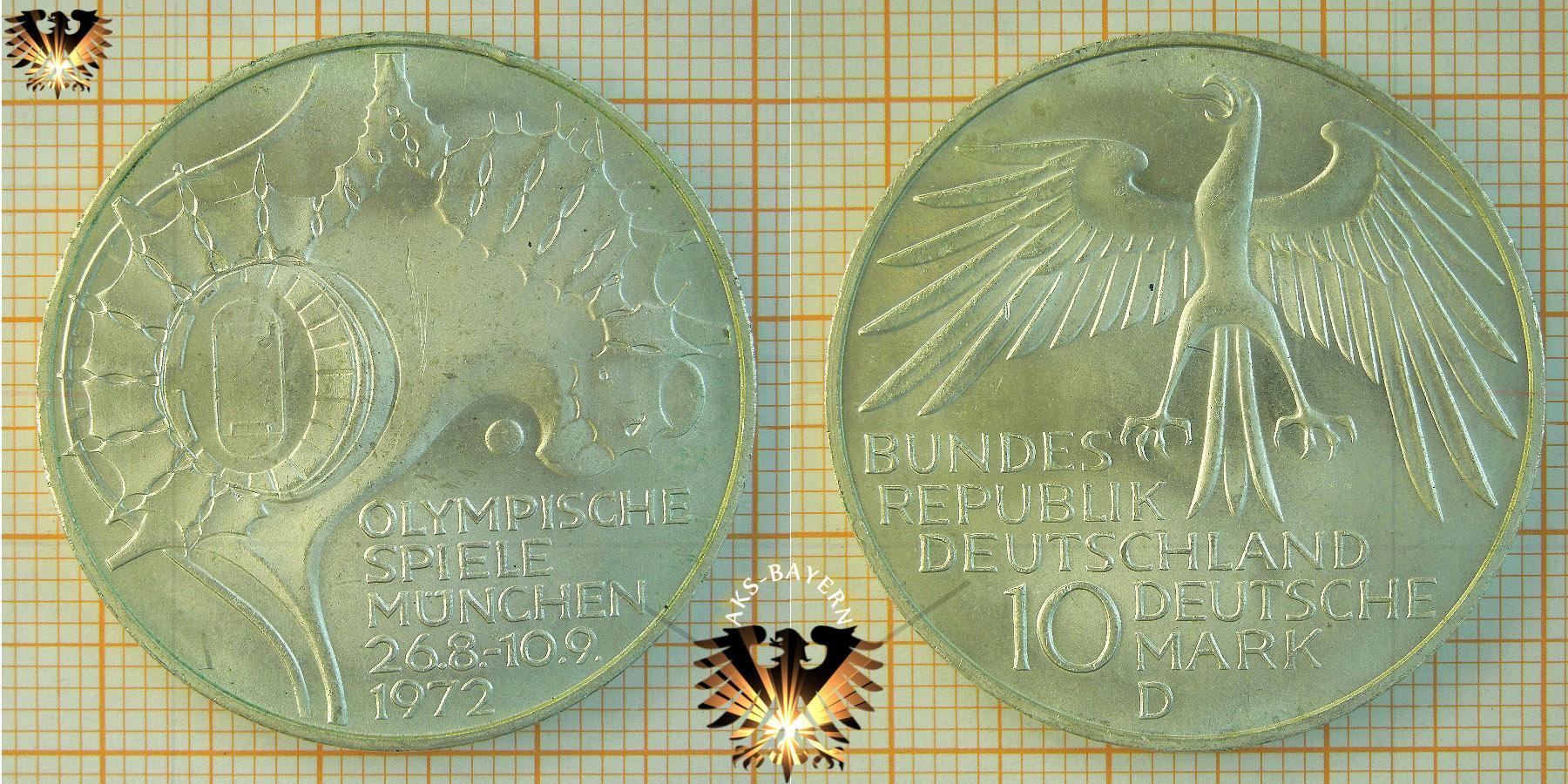 10 Dm Brd 1972 D Olympische Spiele München 268 1091972