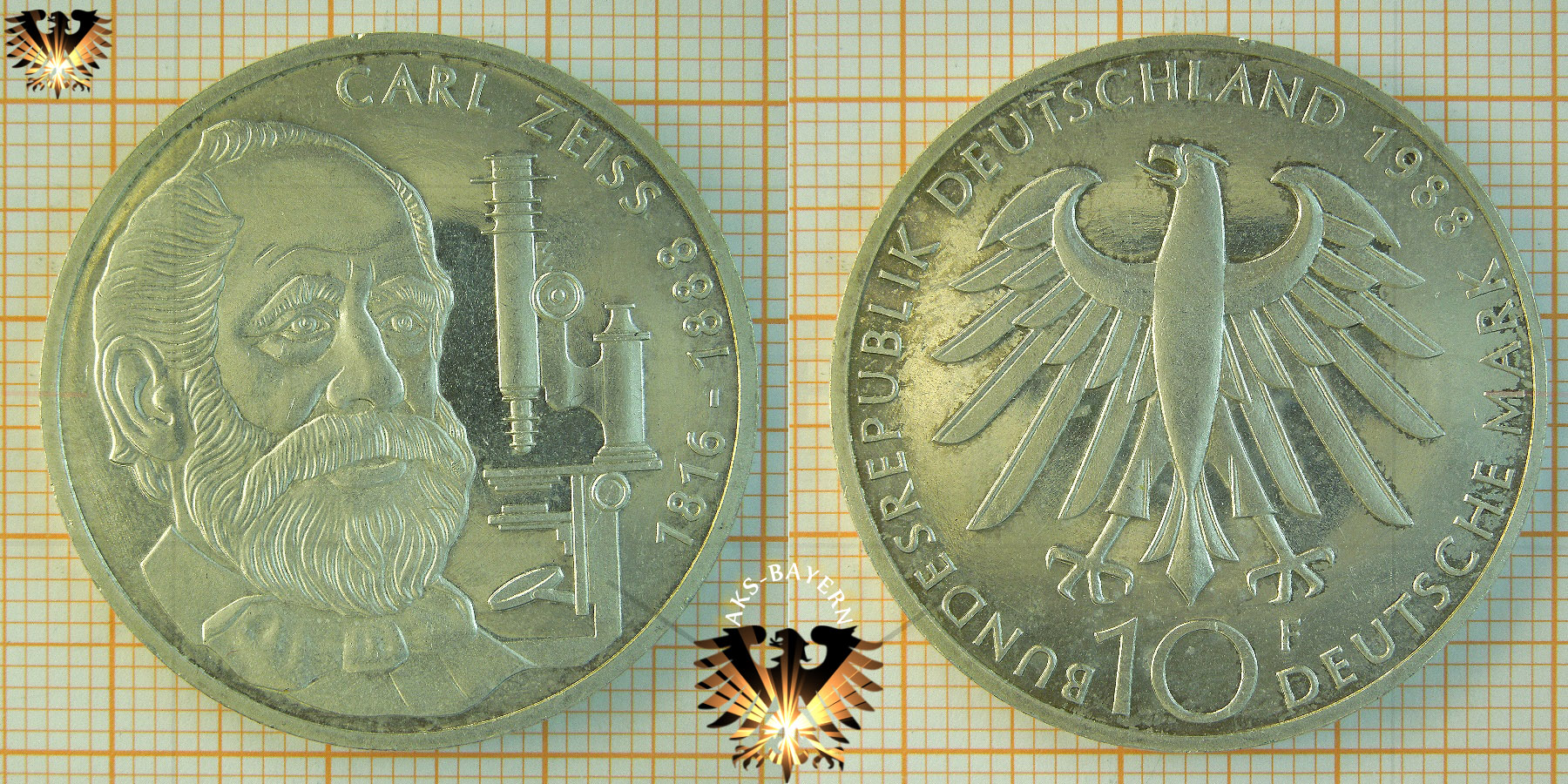 10 Dm Brd 1988 F Carl Zeiss 1816 1888