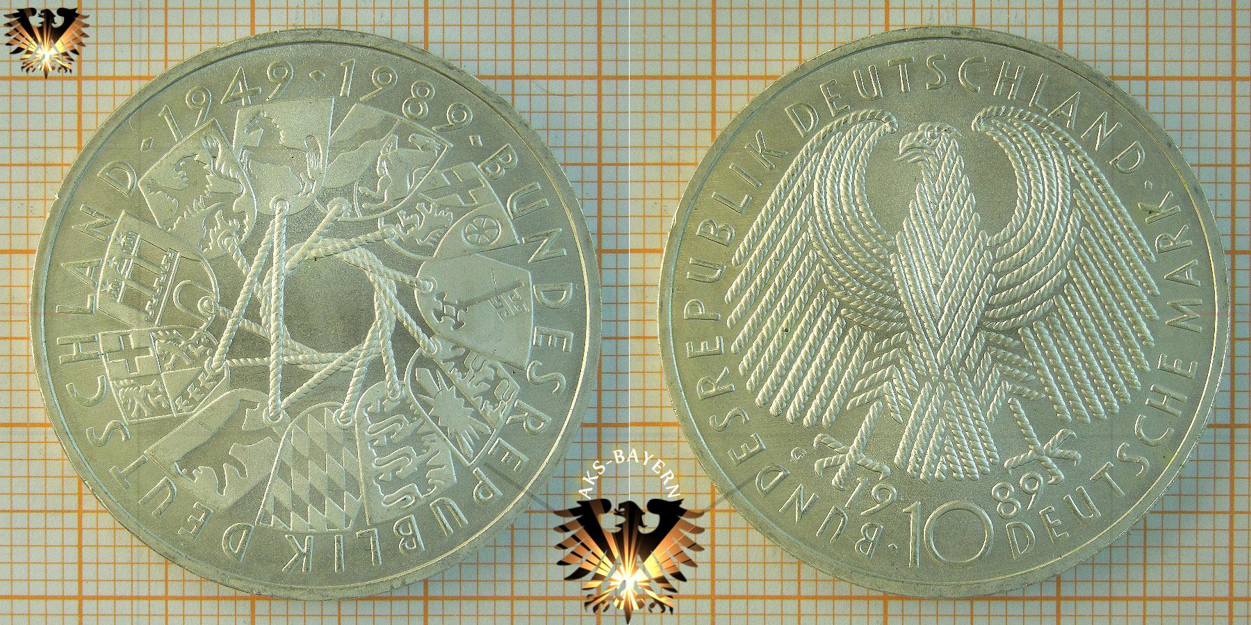 10 Dm Brd 1989 G Bundesrepublik Deutschland 1949 1989