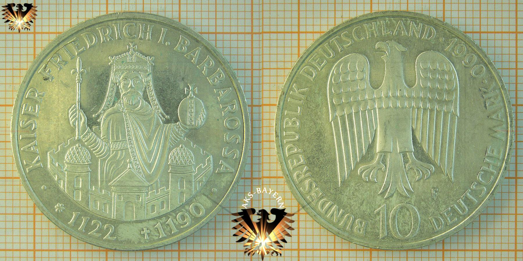 5 Dm Brd 1986 F Friedrich Der Große Letzte 5 D Mark Münze