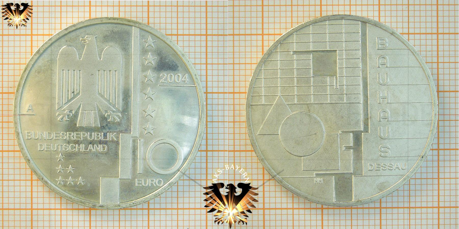 10 Brd 2004 A Bauhaus Dessau Silbermünze Mit Numisblatt 12004