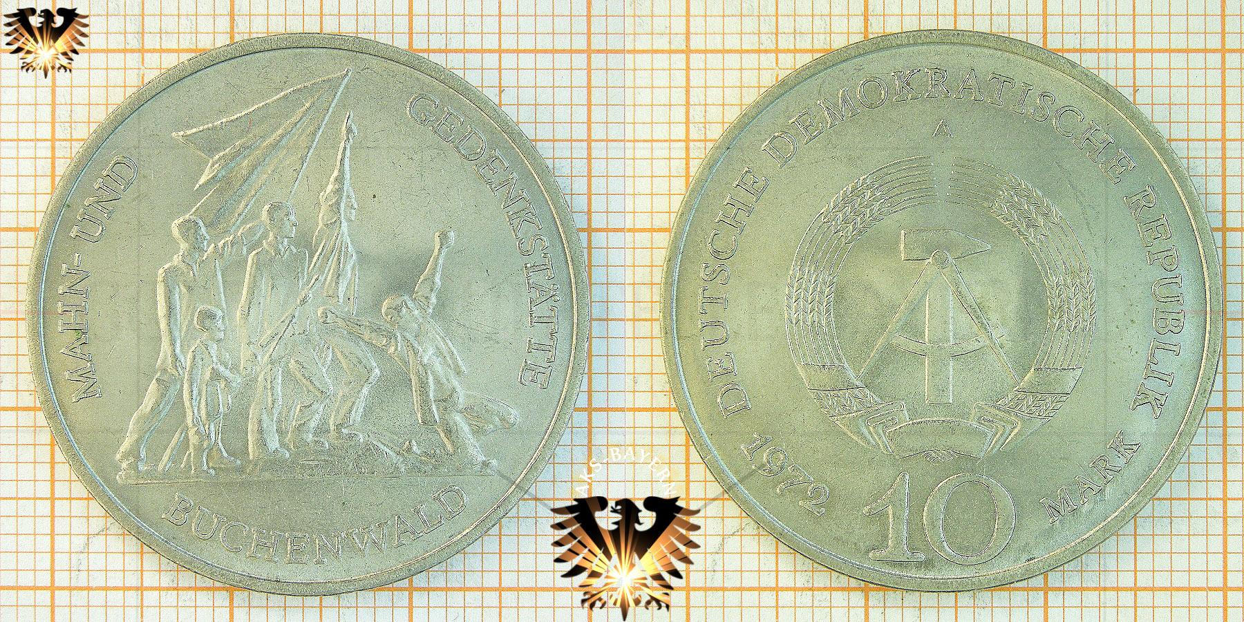 10 Mark Ddr 1972 Mahn Und Gedenkstätte Buchenwald