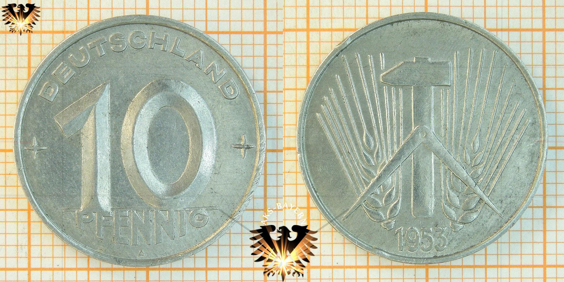 5 Pfennig Ddr 1952 Nominal 1952 1953 Deutschland