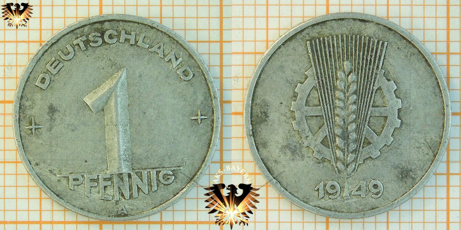 10 Pfennig Ddr 1948 Nominal 1948 1950 Deutschland Stark
